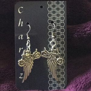 Jewelry - Chainmaille Motorcycle/Wing Earrings